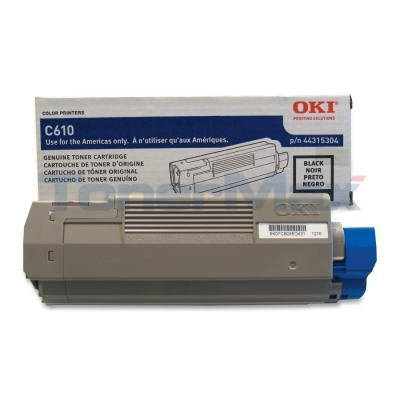 OKI C610 TONER CARTRIDGE BLACK